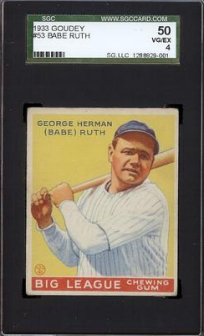 Sgc Graded Baseball Cards Vintage Specialists Vintage Graded